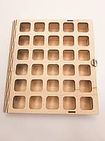 Коробка для конфет, пряников, печенья, сладостей из фанеры на 30 штук