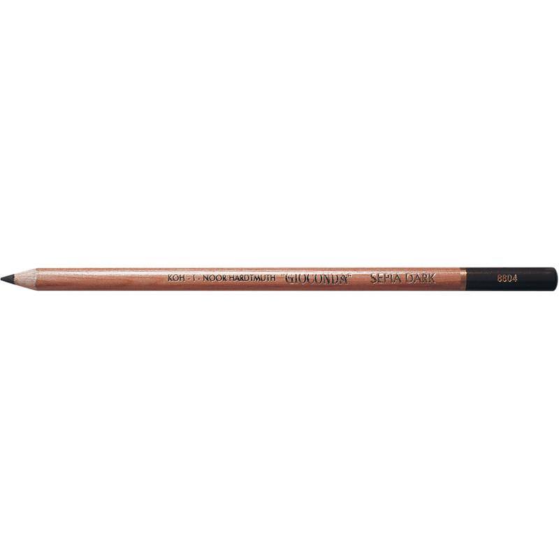 """Олівець художній """"K-In"""" Gioconda сепія темно-коричнева 8804"""