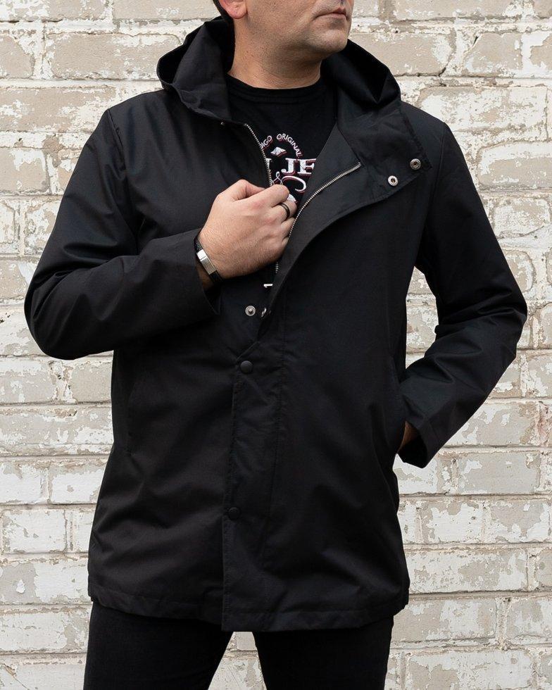 Мужское пальто тренч на флисовой подкладке