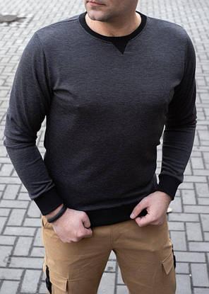 Мужской стильный пуловер серого цвета, фото 2