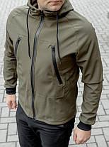 Куртка Softshell хакі на флісі водоупорная тканина, фото 2