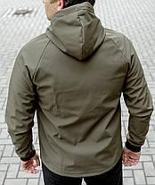 Куртка Softshell хакі на флісі водоупорная тканина, фото 3