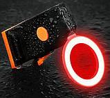 Супер яркий задний фонарь для велосипеда (COB led, 5 режимов, USB, Встроенная батарея) вело габарит, фото 2