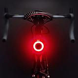 Супер яркий задний фонарь для велосипеда (COB led, 5 режимов, USB, Встроенная батарея) вело габарит, фото 3