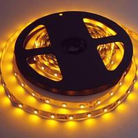 LED лента SMD 2835/60 Yellow 12V жёлтая негерметичная