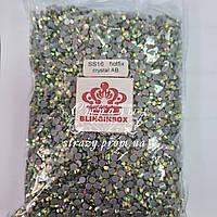 Термо стрази Blinginbox ss16 Crystal AB 100gross pack (4.0 mm) 14000шт
