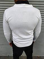 Чоловічий білий кардиган, фото 2