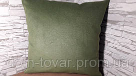 Подушка декоративная 45х45 зеленая