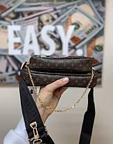 """Сумка Louis Vuitton """"Коричневая/Черная"""", фото 3"""