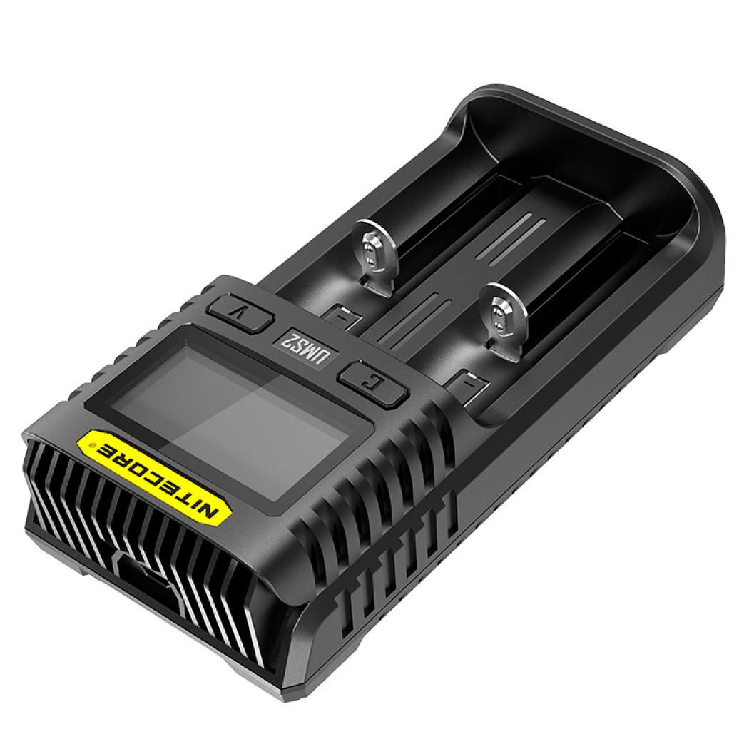 Универсальное зарядное устройство Nitecore UMS2, 2 канала, Ni-Mh/Li-Ion/IMR/LiFePO4 (3.6-4.35V), USB QC2.0, L