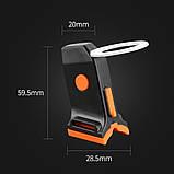Супер яркий велосипедный фонарь (COB led, 5 режимов, USB, Встроенная батарея) габарит стоп, фото 6