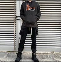 Теплая мужская худи на флисе Travis Scott x Cactus с капюшоном серая размеры M L XL XXL