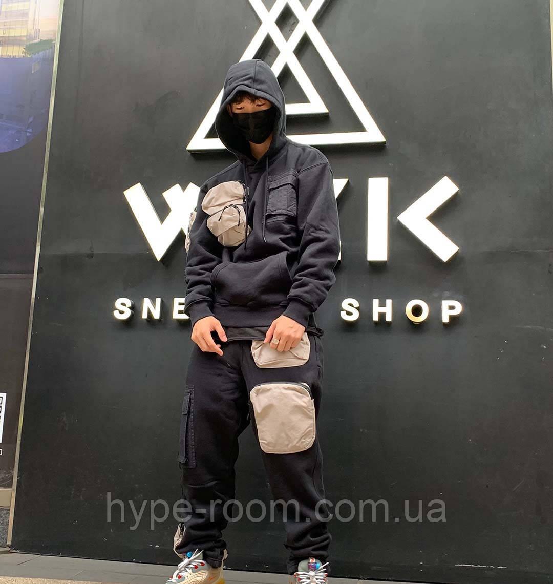 Мужская спортивная кофта с капюшоном Cactus Jack x Jordan черная все размеры