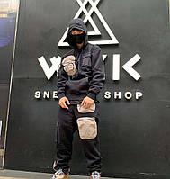 Мужская спортивная кофта с капюшоном Cactus Jack x Jordan черная все размеры, фото 1