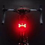Супер яркий велосипедный фонарь (COB led, 5 режимов, USB, Встроенная батарея) габарит стоп, фото 2