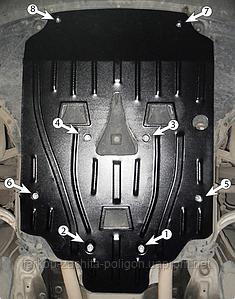 Защита картера AUDI Allroad с 2006-2011 г.
