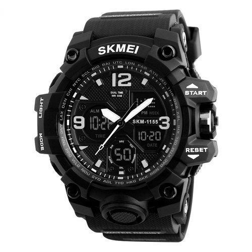 Skmei 1155 B hamlet черные мужские спортивные часы