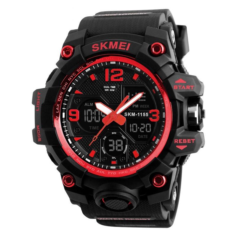 Skmei 1155 B червоні чоловічі спортивні годинник