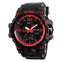 Skmei 1155 B червоні чоловічі спортивні годинник, фото 1