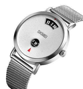 Мужские спортивные часы Skmei 1489 серебристые
