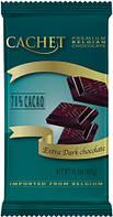 Бельгийский премиум экстра черный шоколад Cachet 70% какао 300 грамм
