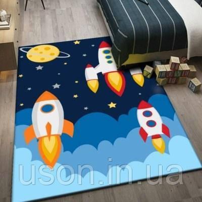 Коврик прямоугольный в детскую комнату Homytex 140*190 Rocket