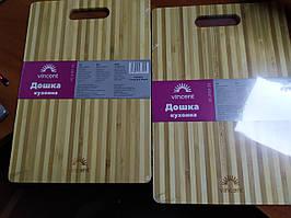 Дошка кухонна прямокутна бамбук 28х18х0,8см. Vincent 2101-28