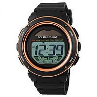 Skmei 1096 золотые мужские спортивные часы с солнечной батареей