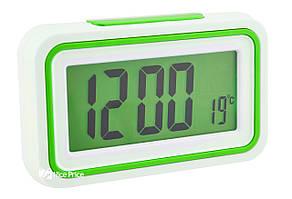 Будильник говорящие часы KENKO 9905 TR Белый/Салатовый (1957)