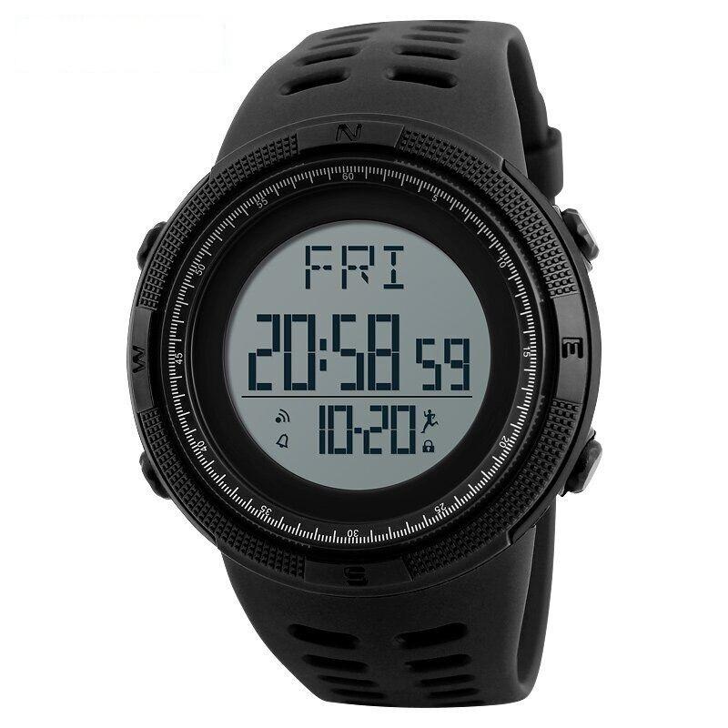 Skmei 1295 Черные мужские спортивные смарт часы