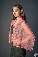 Оренбургский пуховый палантин(шарф) паутинка 120х40см
