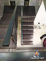 Перила лестничные недорогие из черного металла для квартиры, дома, офиса с порошковой покраской