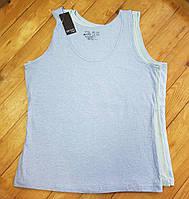 Майки женские, набор из 3шт, размер XL (голубой, ментол, голубой меланж)
