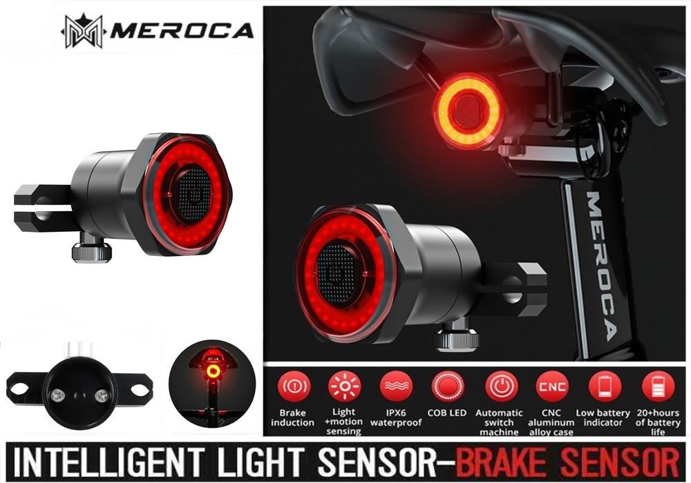 MEROCA Kinetic MX2 Розумний Велосипедний Ліхтар + функція Автостоп і Авторежим (100LM, 500mAh, LED*20, USB, IPX6)