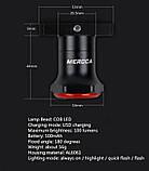 MEROCA Kinetic MX2 Розумний Велосипедний Ліхтар + функція Автостоп і Авторежим (100LM, 500mAh, LED*20, USB, IPX6), фото 9