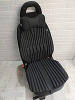 Ортопедическая подушка EKKOSEAT для авто кресла в комплекте с подушкой на подголовник. Универсальная.(TIR)