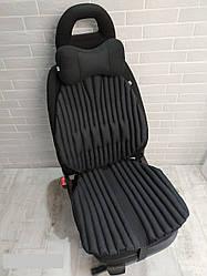 Ортопедична подушка EKKOSEAT для авто крісла в комплекті з подушкою на підголівник. Універсальна.(TIR)