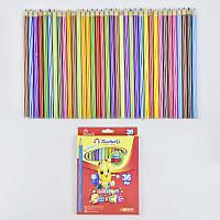 Карандаши цветные 0692 (180) 36 шт в упаковке, 36 цветов