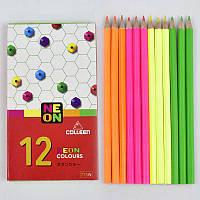Карандаши цветные 0701 (342) 2 вида, 12 шт в упаковке