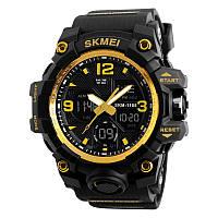 Skmei 1155 B hamlet  золотые мужские спортивные часы