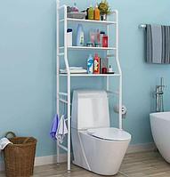 Полиця-стелаж підлоговий над унітазом Біла   полку у ванну   етажерка для ванної