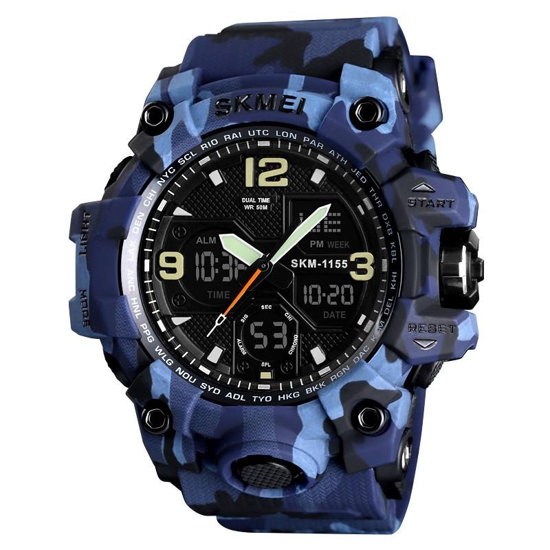 Skmei 1155 B hamlet синій камуфляж чоловічі спортивні годинник