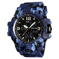 Skmei 1155 B hamlet синій камуфляж чоловічі спортивні годинник, фото 1