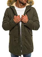Парка мужская Comanda хаки зимняя. (Только M) Куртка удлиненная зеленая теплая