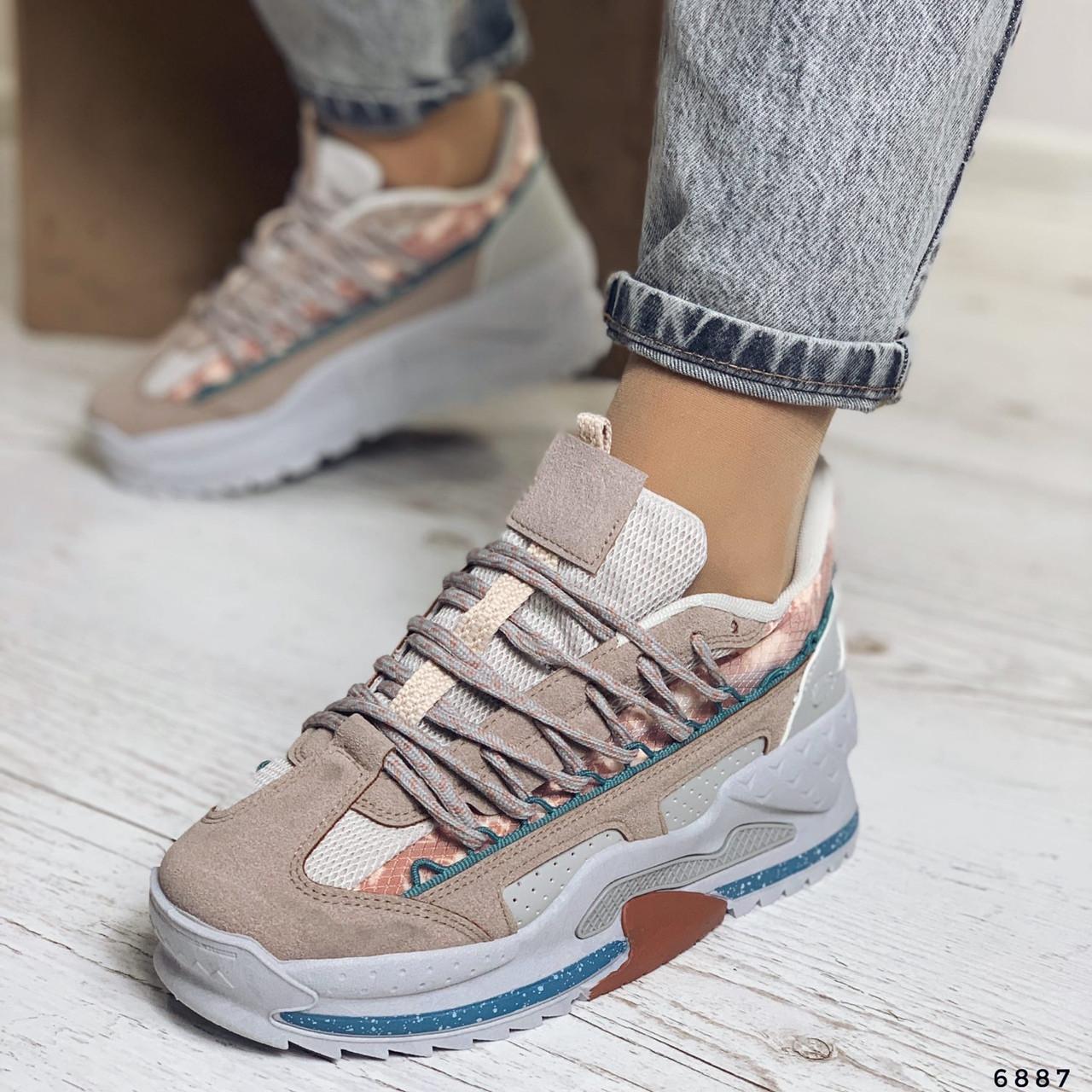 Модные кроссовки на высокой подошве 6887 (ММ)