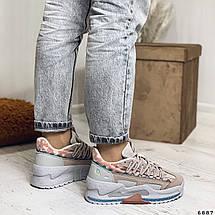 Модные кроссовки на высокой подошве 6887 (ММ), фото 3
