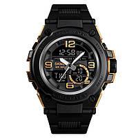 Skmei 1452 shark  золотые мужские спортивные часы, фото 1