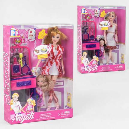"""Кукла 533-1 / 2 (60/2) """"Кухня"""", 2 вида, стойка, ребенок, аксессуары, в коробке, фото 2"""