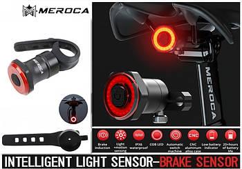MEROCA Kinetic MX2 Умный Велосипедный Фонарь + функция Автостоп и Авторежим (100LM, 500mAh, LED*20, USB, IPX6)