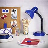 Настольная лампа на гибкой ножке офисная MTL-25 BL, фото 4